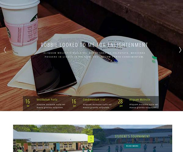 非洲留学生学校教育网站模板_php网站模板