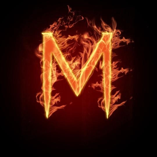 PS制作火焰缭绕的燃烧字_亿码酷站___亿码酷站平面设计教程