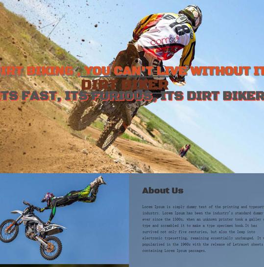 摩托车竞技HTML5前端网站模板_html网站模板