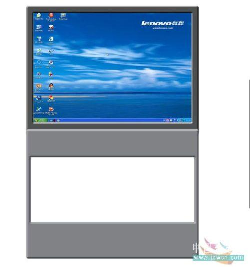 Photoshop鼠绘笔记本电脑_亿码酷站___亿码酷站平面设计教程插图6