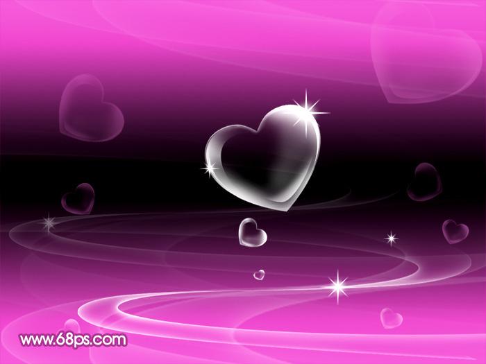 Photoshop制作漂亮的心形泡泡_亿码酷站___亿码酷站平面设计教程