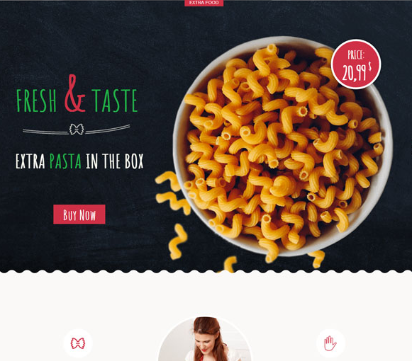黄色响应式网上订餐下单模板_亿码酷站