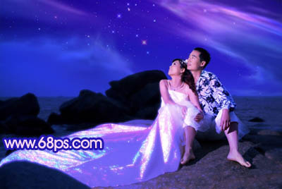 Photoshop打造梦幻色彩的夜景婚纱照_亿码酷站___亿码酷站平面设计教程插图9