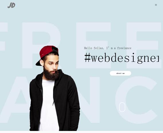 素色设计师个人作品简历模板_亿码酷站网站源码下载