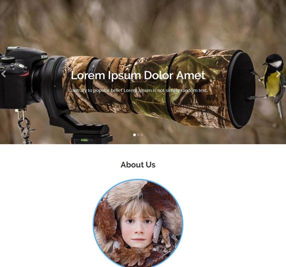 动植物摄影作品网站模板_企业官网模板