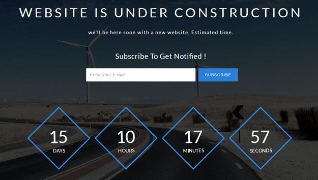 浅蓝色蓝色网站上线倒计时模板_企业官网模板