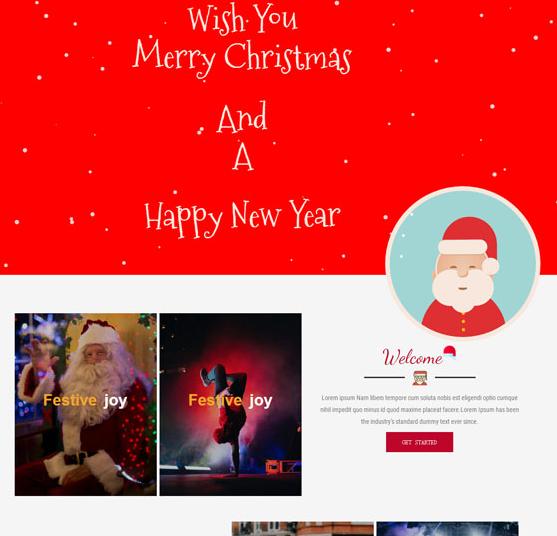 圣诞专题网站模板2_企业官网模板
