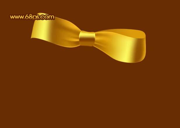 Photoshop制作漂亮的金色礼品结_亿码酷站___亿码酷站平面设计教程插图14