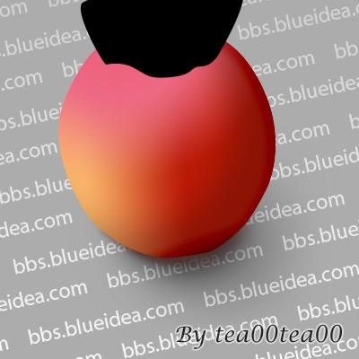 PhotoShop绘制逼真的苹果_亿码酷站___亿码酷站平面设计教程插图12