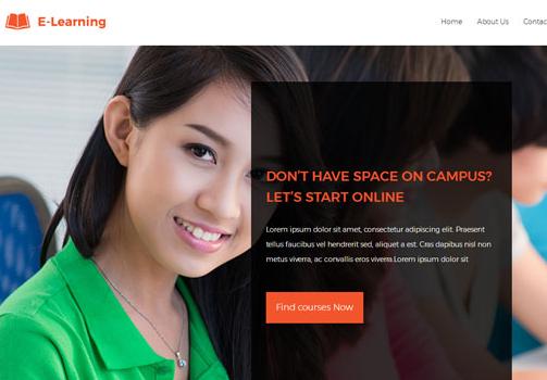 在线教育培训机构HTML5模板_亿码酷站
