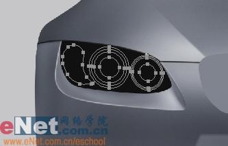 Photoshop鼠绘实例:宝马BMWM3_亿码酷站___亿码酷站平面设计教程插图8