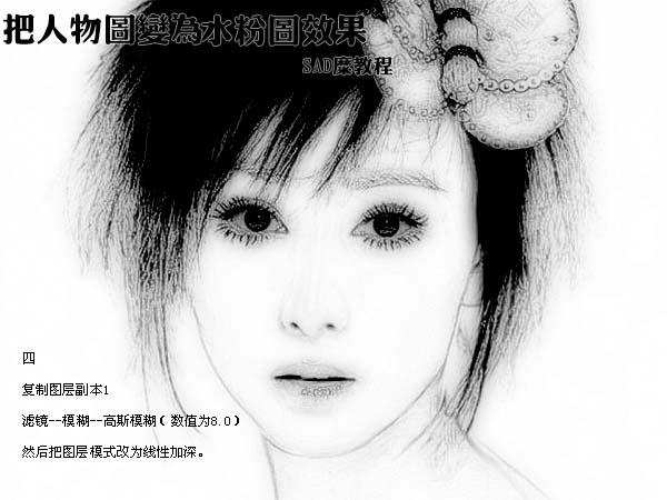 photoshop把人物照片变为水粉画效果_亿码酷站___亿码酷站平面设计教程插图5