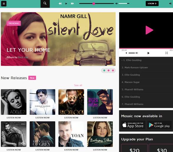 黑色CSS3音乐唱片网站模板_帝国cms模板