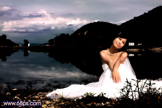 Photoshop快速打造暗调夜景婚片_亿码酷站___亿码酷站平面设计教程插图1
