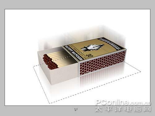 PS制作逼真的3D火柴盒_亿码酷站___亿码酷站平面设计教程插图14