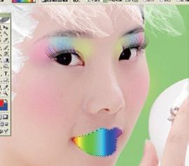 Photoshop给美女加上彩妆及头饰_亿码酷站___亿码酷站平面设计教程插图14