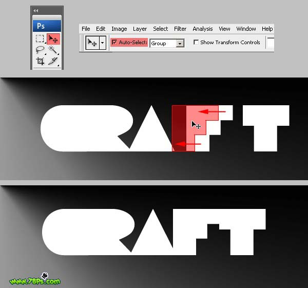 Photoshop制作剪纸字效果_亿码酷站___亿码酷站平面设计教程插图9