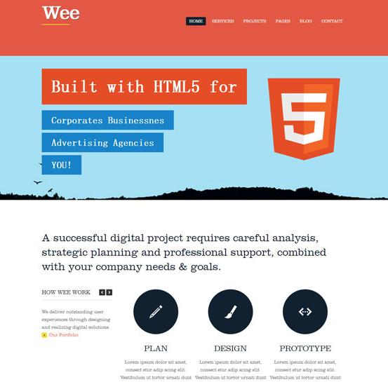 橘黄色html5科技公司网站模板_企业官网模板