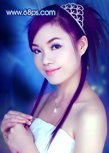 Photoshop调色教程:艳丽蓝色调的人物照片_亿码酷站___亿码酷站平面设计教程插图20