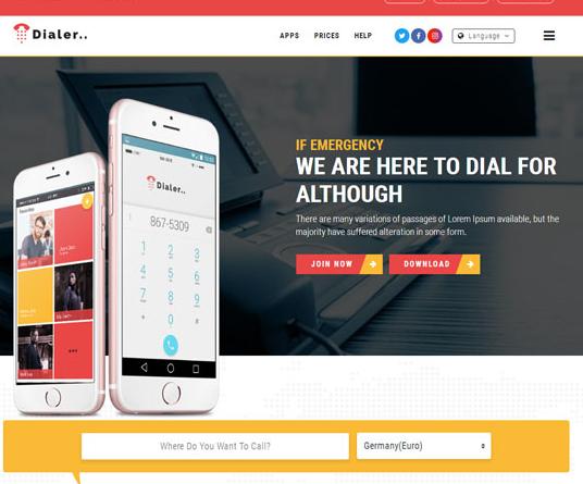 电话VoIP运营商网站模板_帝国cms模板