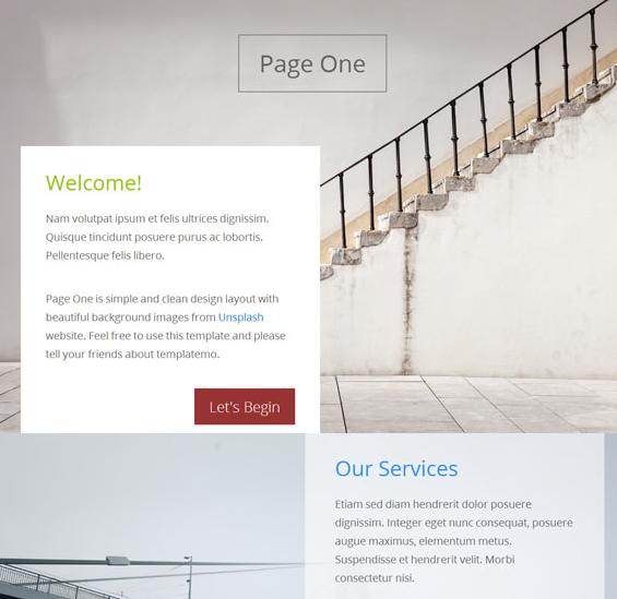 简单视差效果展示网站模板_php网站模板