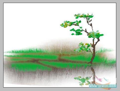 PS鼠绘水彩画效果教程_亿码酷站___亿码酷站平面设计教程插图9