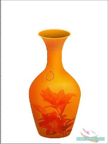 Photoshop打造一只精美艺术花瓶_亿码酷站___亿码酷站平面设计教程插图8