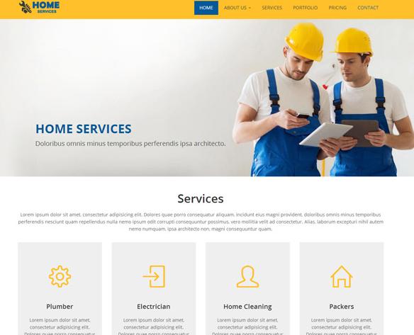 硬装外墙粉刷公司网站模板_html网站模板