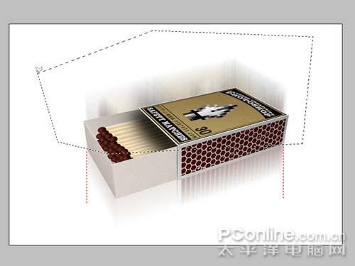 PS制作逼真的3D火柴盒_亿码酷站___亿码酷站平面设计教程插图13