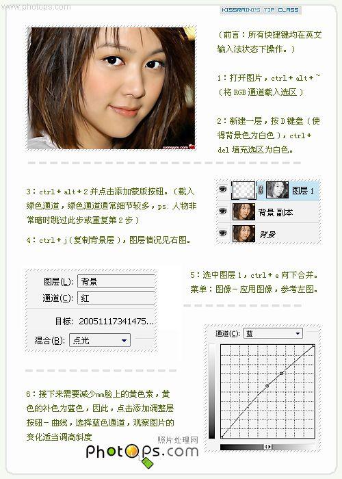 Photoshop常用的美白教程_亿码酷站___亿码酷站平面设计教程插图2