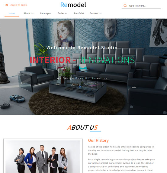 现代化大气装潢公司网站模板_html网站模板