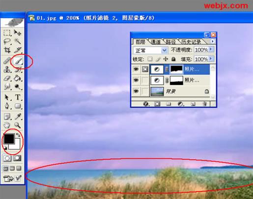Photoshop风景照片的调色_亿码酷站___亿码酷站平面设计教程插图5