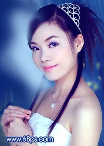 Photoshop调色教程:艳丽蓝色调的人物照片_亿码酷站___亿码酷站平面设计教程插图17