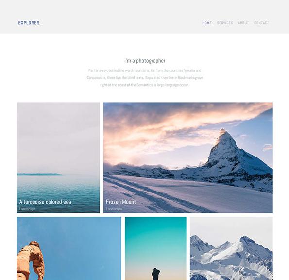 简洁旅游景点展示网站模板_帝国cms模板