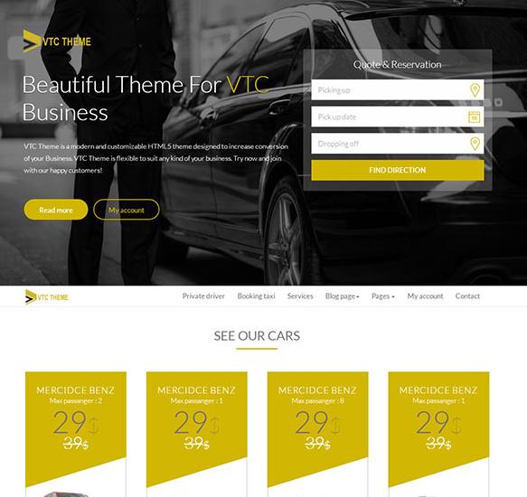 黑色系汽车租赁公司网站模板_html网站模板
