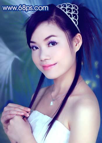 Photoshop调色教程:艳丽蓝色调的人物照片_亿码酷站___亿码酷站平面设计教程插图16
