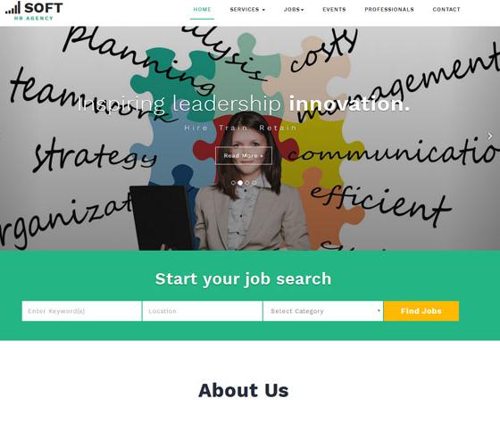 绿色调商务英语培训网站模板_亿码酷站网站源码下载