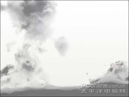 Photoshop制作一张水墨艺术画_亿码酷站___亿码酷站平面设计教程插图6