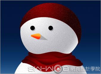 PHOTOSHOP鼠绘漂亮的圣诞雪人_亿码酷站___亿码酷站平面设计教程插图12