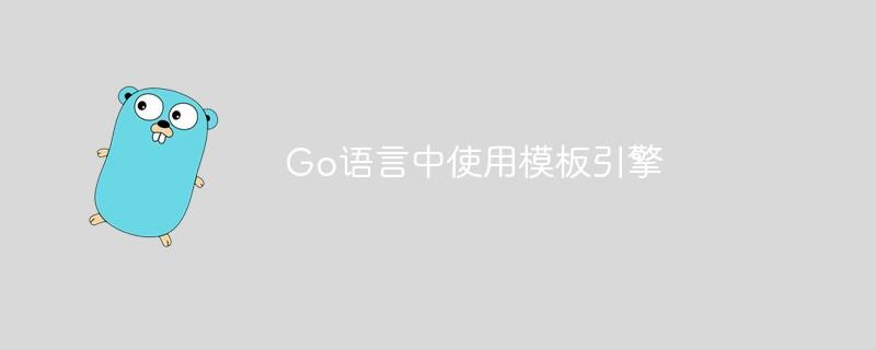 Go语言中如何使用模板引擎_编程技术_编程开发技术教程