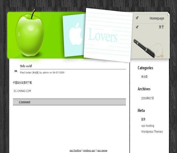 WordPress apple模板_亿码酷站_主题下载