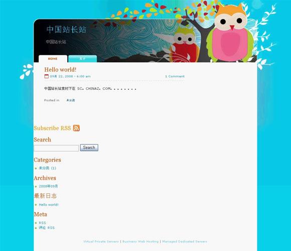 WordPress Owl Bubo模板_亿码酷站_主题下载