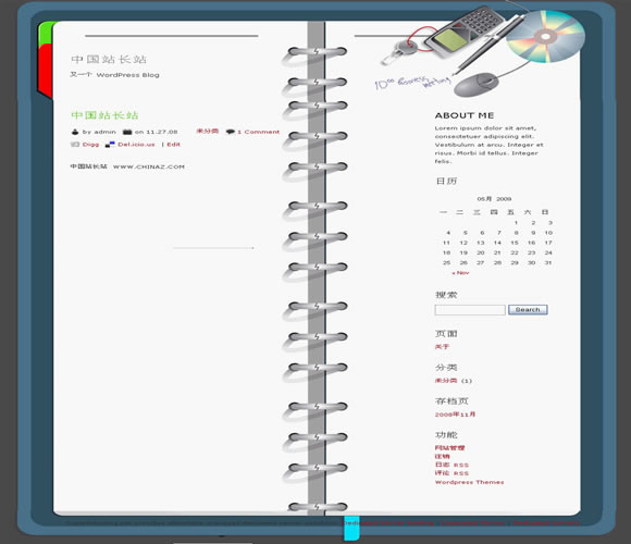 WordPress Notes模板_亿码酷站_主题下载