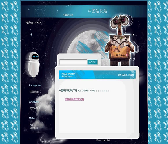 WordPress Wall-e模板_亿码酷站_wordpress主题