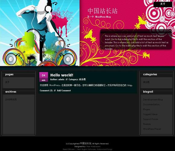 WordPress Pop Music模板_亿码酷站_wordpress主题