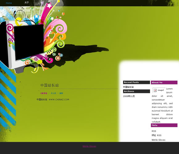 WordPress Colourful模板_亿码酷站_主题下载
