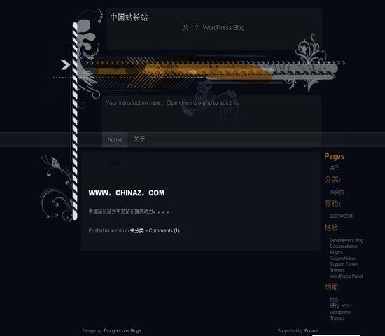 WordPress Navydark模板_亿码酷站_主题模板