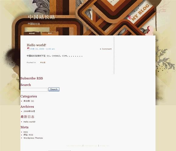 WordPress Blogbook模板_亿码酷站_wordpress模板