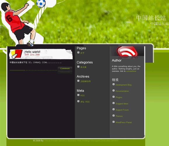 WordPress Soccer League模板_亿码酷站_wordpress主题
