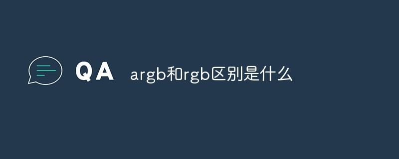 argb和rgb区别是什么插图
